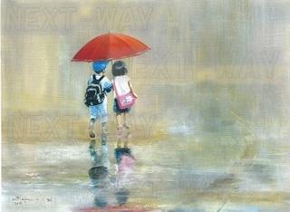 出番のないベンチ「雨の日の友だち」b.jpg
